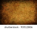 background texture with wallpaper patterns in a vintage look - stock photo