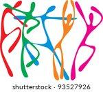 vector image of dancing people...   Shutterstock .eps vector #93527926
