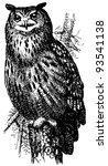 bird eurasian eagle owl | Shutterstock .eps vector #93541138