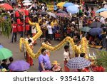 Small photo of CEBU CITY, PHILIPPINES - JAN 15: Filipino Catholic devotees dance and perform in the Annual Feast of the Child jesus or Sinulog Santo Nino Parade in Cebu City, Philippines on Sun, Jan 15, 2012.