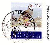 "Small photo of HELVETIA (SWITZERLAND) - CIRCA 2009: Stamp printed in Switzerland shows Pheasant with the designation ""Alectoris graeca"", circa 2009"