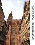 The cathedral of Notre-Dame at Strasbourg, France - stock photo