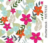 seamless vector floral pattern. | Shutterstock .eps vector #93575152
