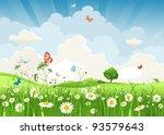 Summer Sunny Landscape