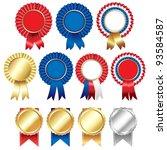 ribbons rosette badge  vector... | Shutterstock .eps vector #93584587