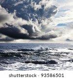 Storm Clouds Above  Ocean