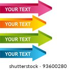 arrow chart | Shutterstock .eps vector #93600280