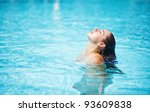 young woman in the swimming pool | Shutterstock . vector #93609838