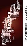 abstract map of sweden   Shutterstock . vector #93625567