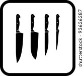 kitchen knives   vector icon... | Shutterstock .eps vector #93626287