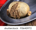 Scottish Haggis Cooked For A...