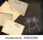 old postcards | Shutterstock . vector #93641983