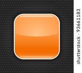 orange glossy blank web button... | Shutterstock .eps vector #93661183