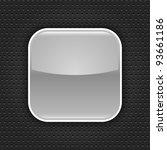 gray glossy blank web button... | Shutterstock .eps vector #93661186