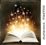 open magic book on a dark...   Shutterstock . vector #93669544