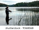 lake fishing | Shutterstock . vector #9368068