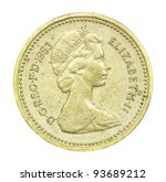 English One Pound Coin Of 1983