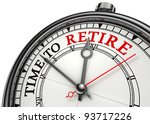 time to retire concept clock... | Shutterstock . vector #93717226