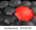 red umbrella standing out from... | Shutterstock . vector #93722191