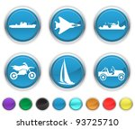 Transport Icons Each Color...