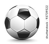 shiny soccer ball waiting to be ... | Shutterstock . vector #93739522