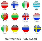 vector icons with flags of... | Shutterstock . vector #93746650