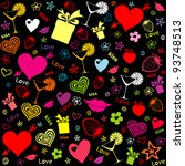 seamless love pattern. vector...