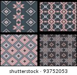 four seamless knitted swatches... | Shutterstock .eps vector #93752053
