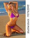 sexy beach bikini girl | Shutterstock . vector #93762049