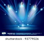 shelf with 3 led spotlights... | Shutterstock .eps vector #93779026