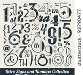 various vintage number and... | Shutterstock .eps vector #93790477