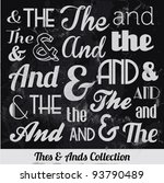 various vintage thes   ends... | Shutterstock .eps vector #93790489
