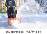 Snowblower In Winter