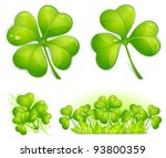 four leaf clover pattern ... | Shutterstock .eps vector #93800359
