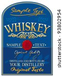 whiskey label | Shutterstock .eps vector #93802954