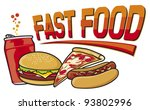 fast food label  hamburger ... | Shutterstock .eps vector #93802996