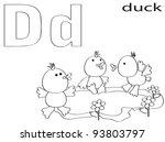 coloring alphabet for kids d | Shutterstock .eps vector #93803797