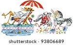 cartoon illustration  heron s... | Shutterstock . vector #93806689