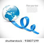 world map colorful arrows... | Shutterstock .eps vector #93807199