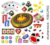 the set of vector casino... | Shutterstock .eps vector #93812902