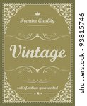 special vintage background | Shutterstock .eps vector #93815746