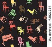 big set of home chair... | Shutterstock .eps vector #93821389