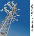 power transmission line. 3d...   Shutterstock . vector #93826858