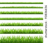 Green Grass Set  Isolated On...