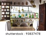 Very Old Kitchen With Ancient...