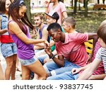 multi ethnic group of people... | Shutterstock . vector #93837745