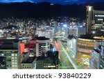 night view of kobe, japan - stock photo