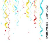 ribbons and confetti red ... | Shutterstock . vector #93840652