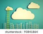a competition concept  clouds... | Shutterstock . vector #93841864