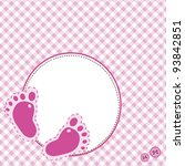 Pink Background With Baby...